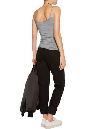 HELMUT LANG Cotton and cashmere-blend tank