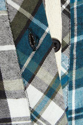 CHELSEA FLOWER Cutout plaid cotton-flannel shirt