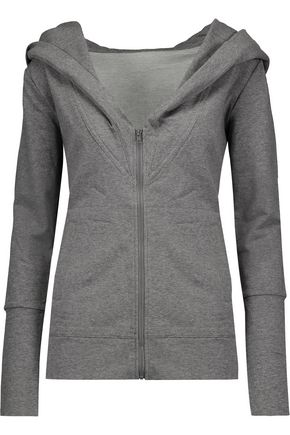 NORMA KAMALI Cotton-blend hooded sweatshirt