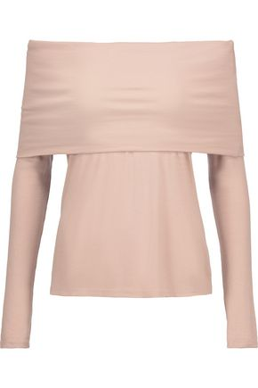 W118 by WALTER BAKER Lydia off-the-shoulder ribbed-knit top