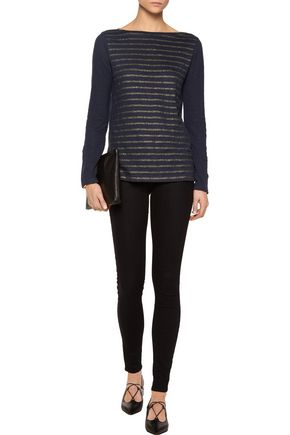 PETIT BATEAU Striped linen-jersey T-shirt