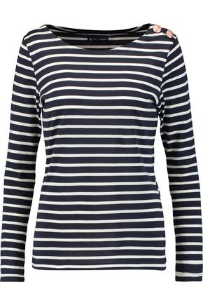 PETIT BATEAU Marini striped cotton-jersey top