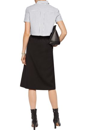 MARC BY MARC JACOBS Cropped striped cotton-poplin shirt