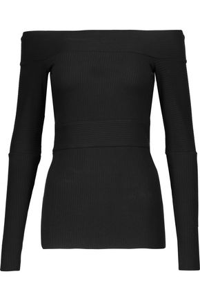 BAILEY 44 Off-the-shoulder ribbed stretch-jersey top