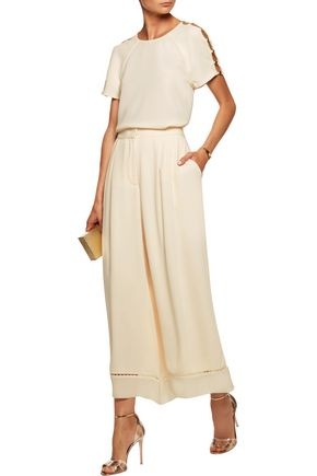 ZIMMERMANN Cutout embellished crepe top