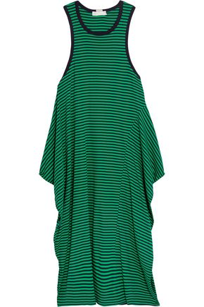 STELLA McCARTNEY Calypso ruffled striped cotton-jersey dress