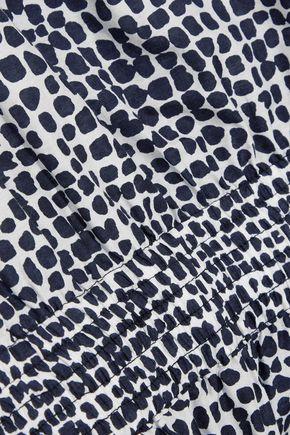 STELLA McCARTNEY Printed cotton and silk-blend playsuit