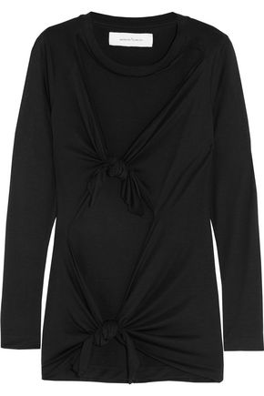 MARQUES ALMEIDA Knotted stretch-jersey top