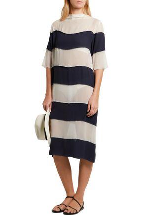 LENNY NIEMEYER Striped georgette dress