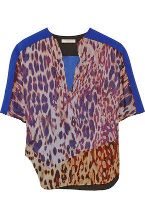 BOUCHRA JARRAR Printed silk-chiffon top