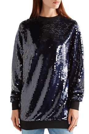 CARVEN Oversized embellished tulle top