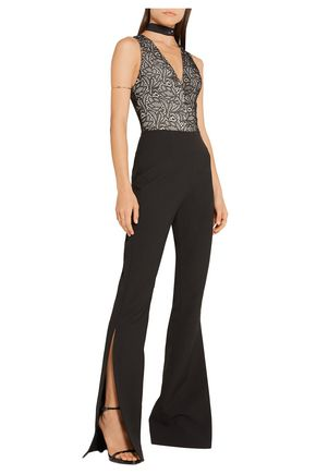 ALICE + OLIVIA Zooey lace and stretch-jersey bodysuit