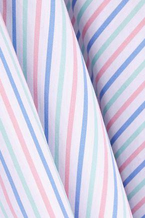CAROLINE CONSTAS Demi striped cotton Oxford playsuit