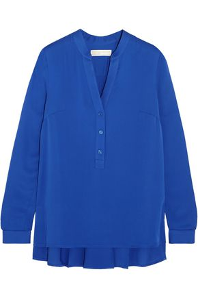 MICHAEL MICHAEL KORS Pleated silk crepe de chine blouse