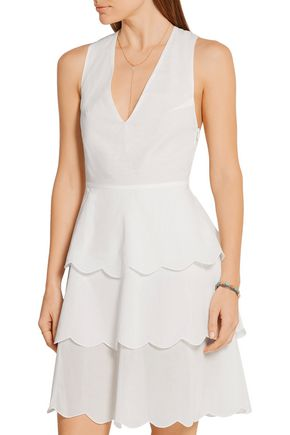 MARYSIA San Onofre tiered cotton-voile dress