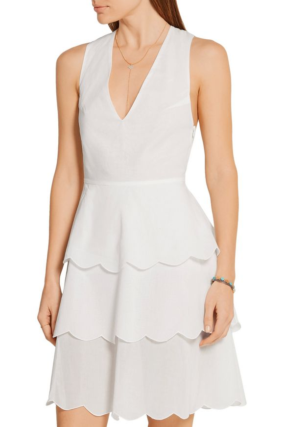 San Onofre tiered cotton-voile dress   MARYSIA   Sale up to 70% off   THE  OUTNET