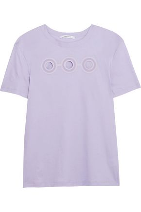 CARVEN Cutout cotton-jersey T-shirt