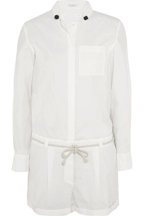BRUNELLO CUCINELLI Cotton-blend poplin playsuit