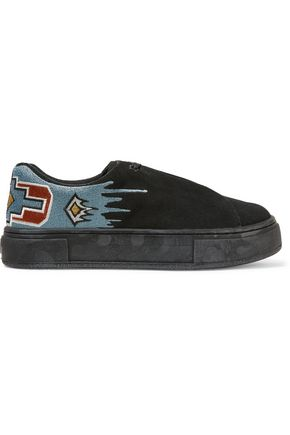 EYTYS Doja embroidered suede platform sneakers