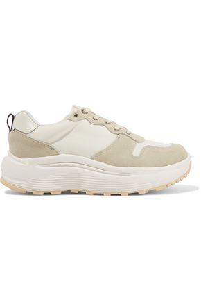 EYTYS Jet paneled shell and leather sneakers