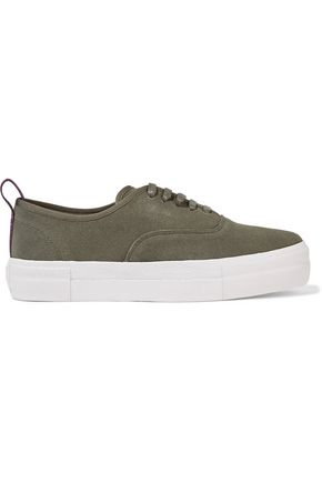 EYTYS Mother Army suede platform sneakers