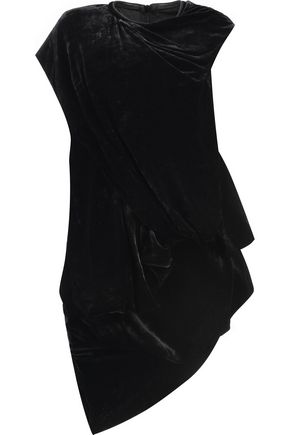 RICK OWENS Draped cotton and silk-blend top