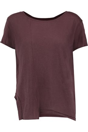 RTA Johnny asymmetric cotton and cashmere-blend T-shirt