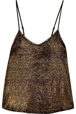 RTA Lilian metallic silk camisole