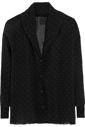 RTA Blanche polka-dot silk shirt