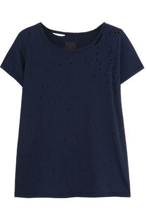 RTA Jewel distressed cotton-jersey T-shirt