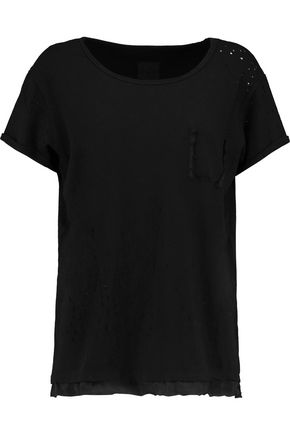 RTA Isabelle distressed cotton-jersey T-shirt