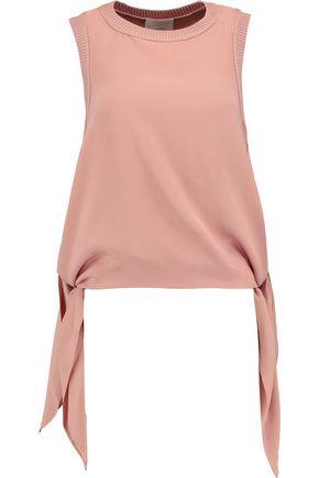 CINQ À SEPT Yvonne asymmetric silk top
