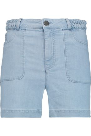 ALICE + OLIVIA Carsen braided denim shorts