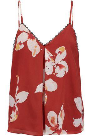 ALICE + OLIVIA Carlene printed silk camisole