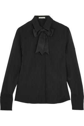 ALICE + OLIVIA Felipa bow-embellished silk-blend chiffon blouse