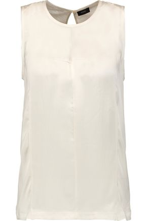 JOSEPH Washed-silk and silk-blend jersey top