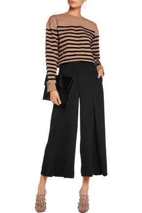 T by ALEXANDER WANG Faux fur-striped cotton sweatshirt