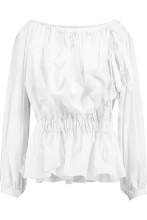 ROCHAS Off-the-shoulder cotton-blend top