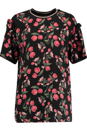 MOTHER OF PEARL Cleve floral-print twill top
