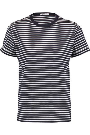T by ALEXANDER WANG Striped cotton-jersey T-shirt
