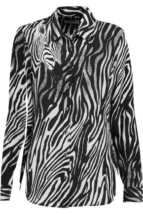 EQUIPMENT Brett zebra-print washed-silk shirt