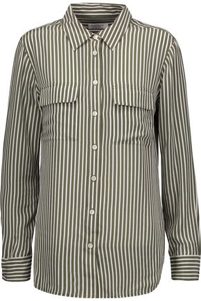 EQUIPMENT Striped washed-silk shirt