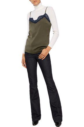 IRIS & INK Eloise lace-trimmed crepe de chine camisole