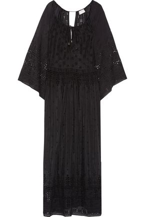 ZIMMERMANN Broderie anglaise cotton and silk-blend voile maxi dress