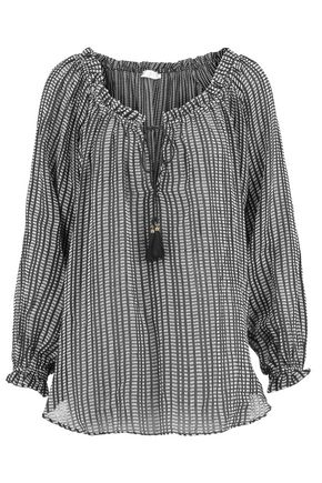 ZIMMERMANN Printed cotton-gauze blouse