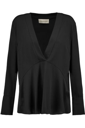 BY MALENE BIRGER Dosiana satin-crepe top