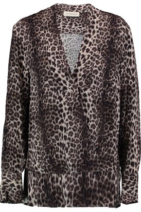 BY MALENE BIRGER Diamond leopard-print crepe blouse