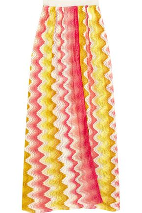 MISSONI Wrap-effect crochet-knit maxi skirt
