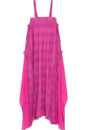 MISSONI Tassel-trimmed crochet-knit maxi dress