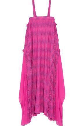 MISSONI Tassel-trimmed crochet-knit maxi dress